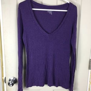 Old Navy Long Sleeve Tee Purple Size L